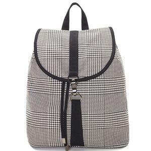 Frasier plaid backpack by Lulu Dharma